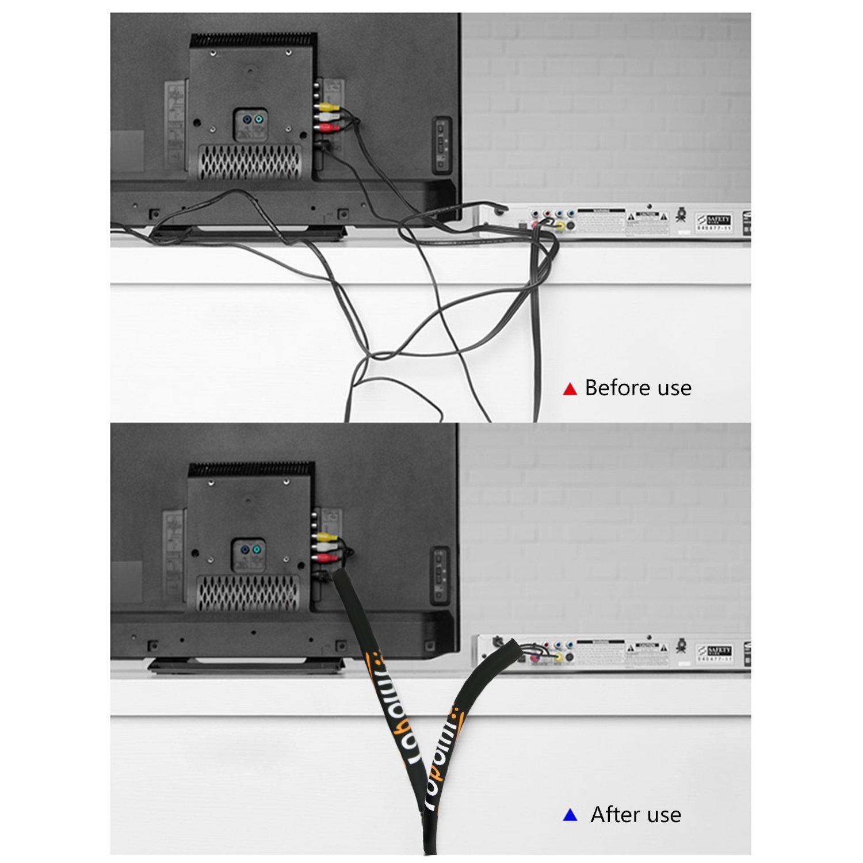 Topoint® Kabelkanal Organizer Management-Set, 4 Stück 19 \