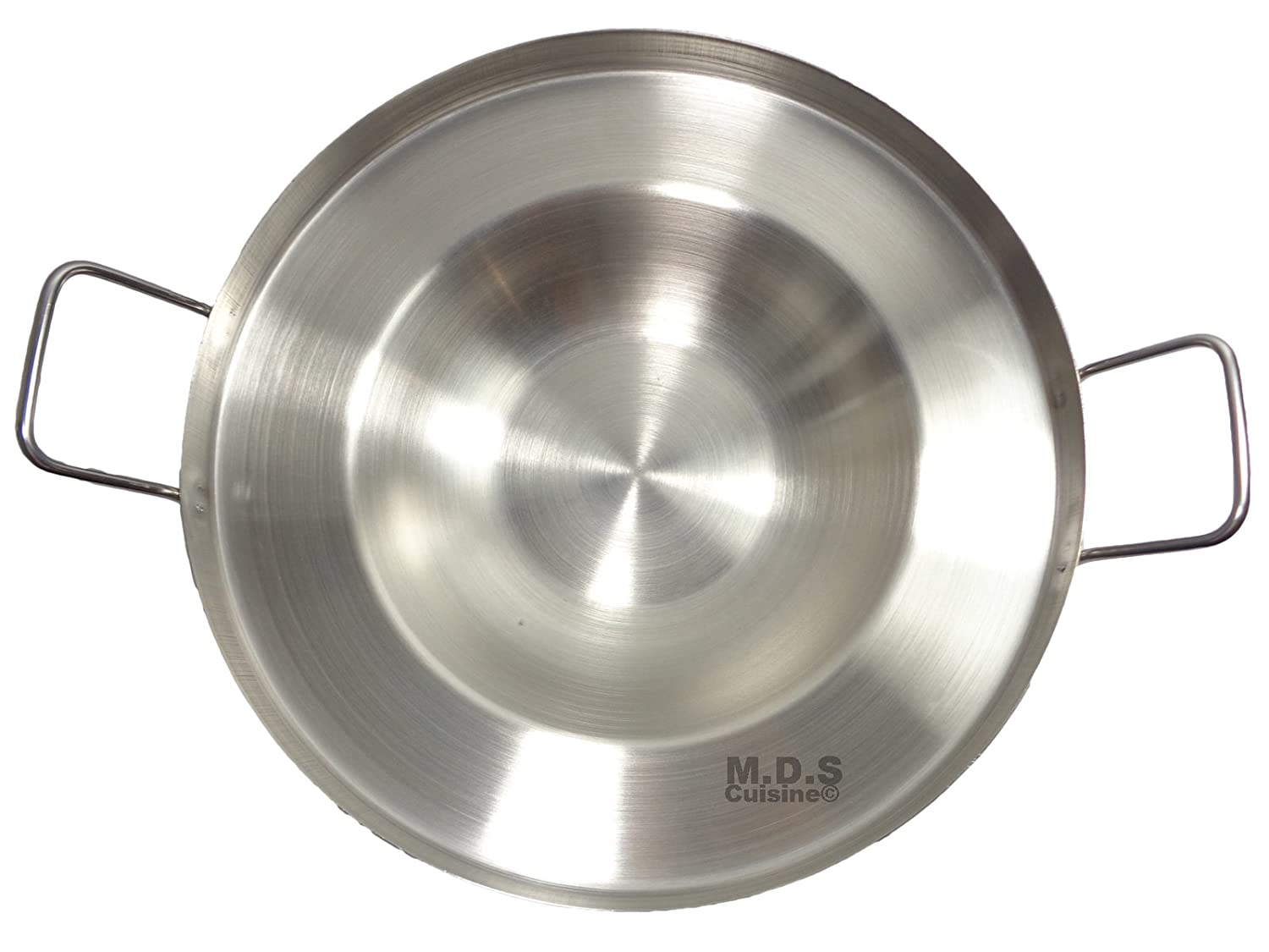 16 Inch Comal Stainless Steel Concave Frying Gas Stove Outdoors Heavy Duty Acero M.D.S Cuisine Cookwares