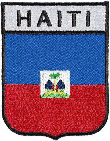 "Haiti Flag 2 1//2/"" Iron On Embroidered Patch Flag of Haiti"