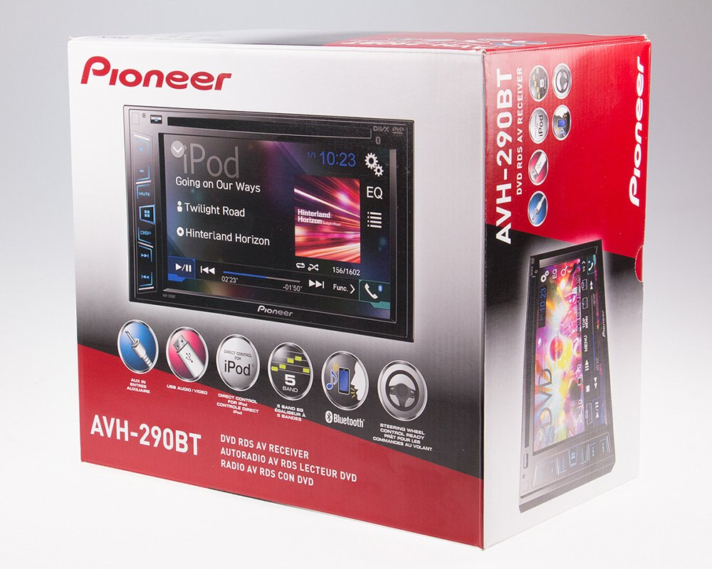 Pioneer AVH-290BT Multimedia DVD Receiver with 6.2'' WVGA Display and Built-in Bluetooth by Pioneer