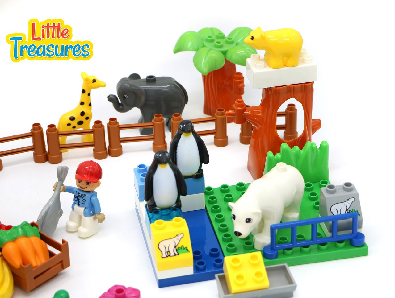 Happy Zoo aged preschoolers Little Treasures Building block 58 pieces Construction toy set for 3