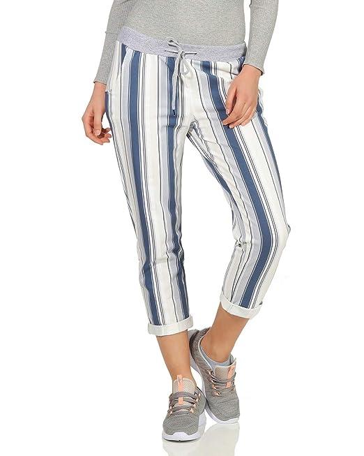 5cad7129da ZARMEXX Pantalón de chándal para Mujer Pantalón de Verano de Baggy  Boyfriend Estampado Completo de un tamaño  Amazon.es  Ropa y accesorios