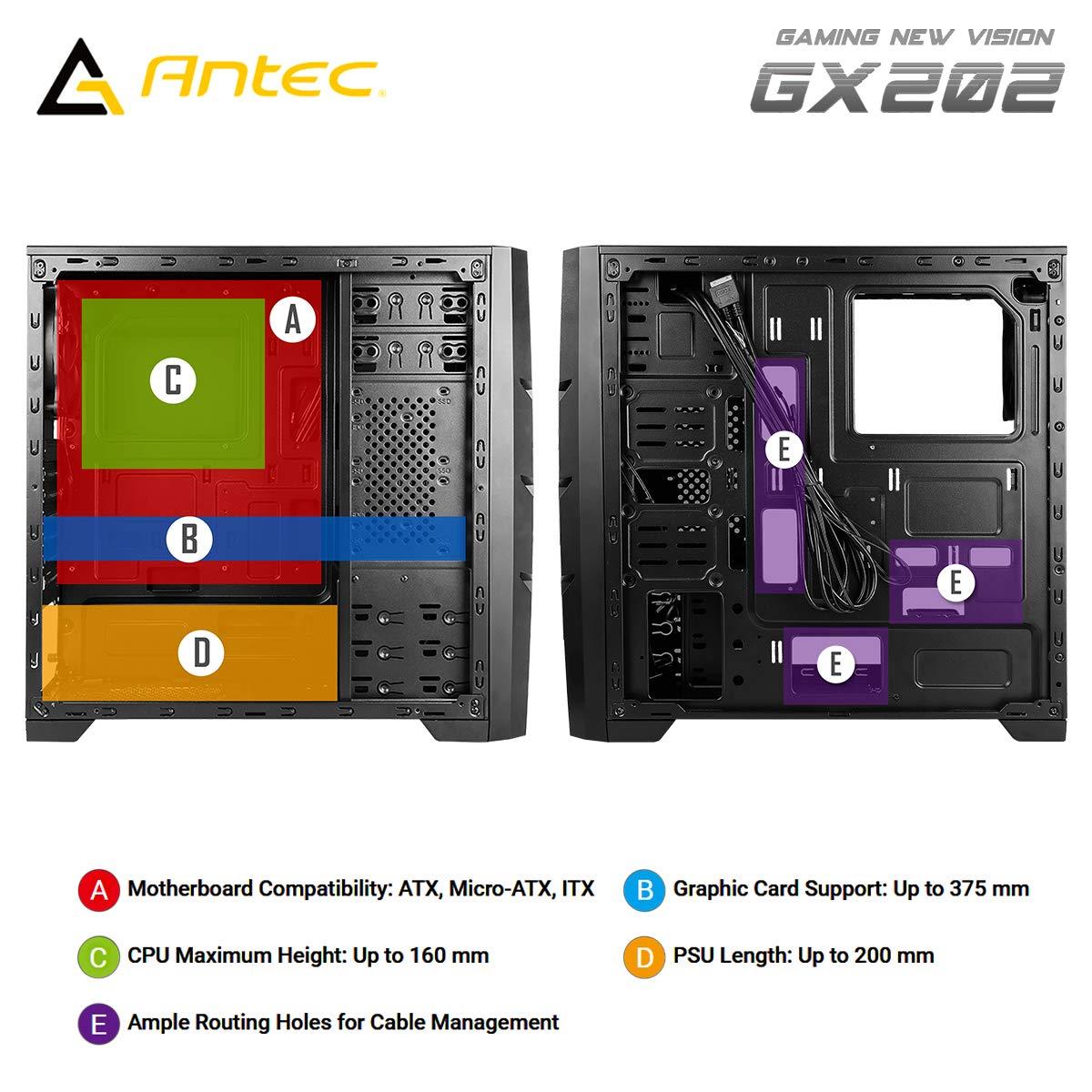 Antec GX202 Blanc sans Alimentation ATX Mid Tower GX202 Blanc //