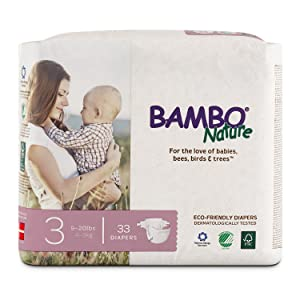 Bambo Nature Premium Baby Diapers Size 3 (9-20 lbs)