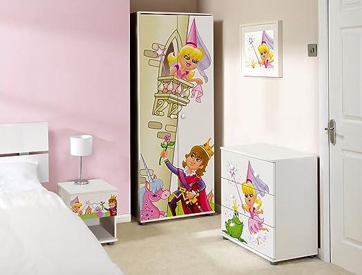 Princess Design Childrens/Kids White Bedroom Furniture Sets