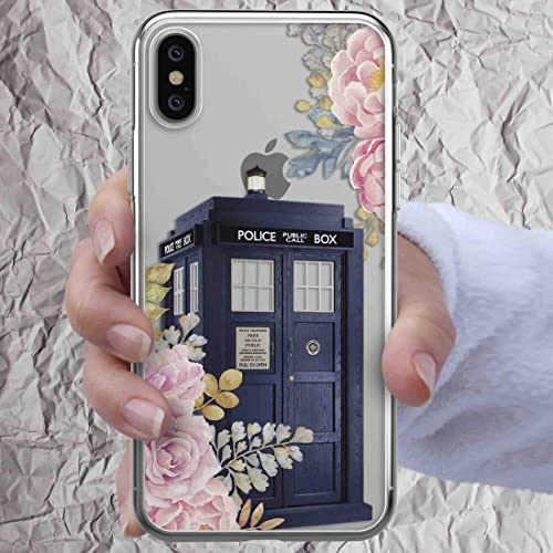 Fitted Cases Cases Silicone Soft Cover For Iphone X Xs Max Xr 6 6s 7 8 Plus 5 4s Se Xs Xr Floral Tardis Tardis Doctor Who Phone Bags & Cases