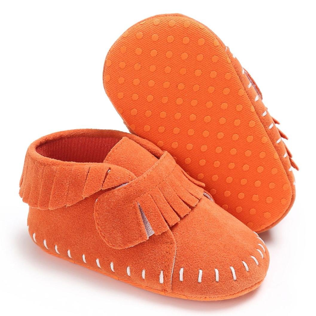 Voberry Newborn Baby Boys Girls Tassel Soft Sole PU Leather Loafers Moccasin Sneakers Shoes