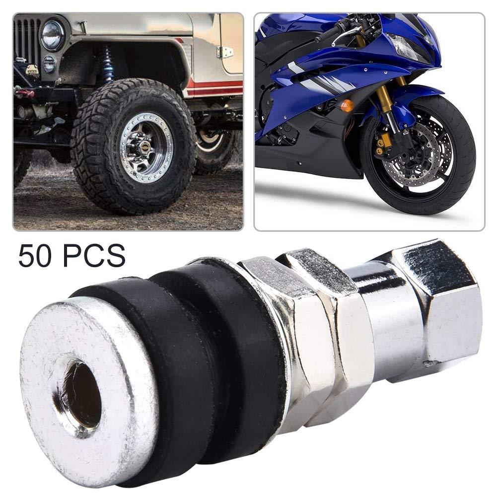 ugello per valvola per pneumatici a vuoto tubeless per bicicletta universale per moto 50 pezzi EBTOOLS Ugello per pneumatici a vuoto