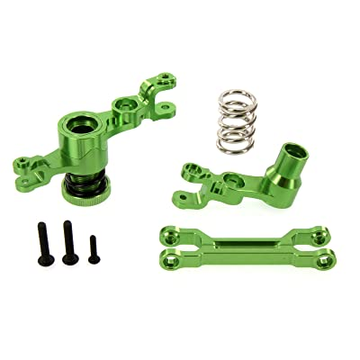 Atomik RC Alloy Steering Bellcrank Assembly for Traxxas X-Maxx , Green TRX 7746: Toys & Games