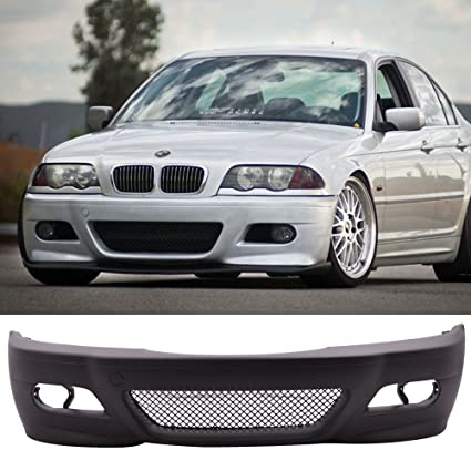 Front Bumper Conversion Fits 1999 2005 Bmw E46 3 Series 4 Door Sedans M3 Style Pp Black Bumper Cover Conversion Bodykit By Ikon Motorsports 2000