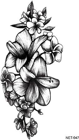 Tatuaje temporal Apliques Brazo Arte del tatuaje Flores del ...