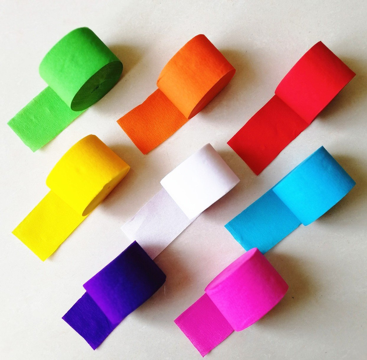918 Feet Party Streamer Paper Decorations Crepe For Birthday Wedding Concert And Various Festivals