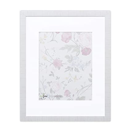 Amazon.com - 16x20 Picture Frame Modern White - Matted for 11x14 ...