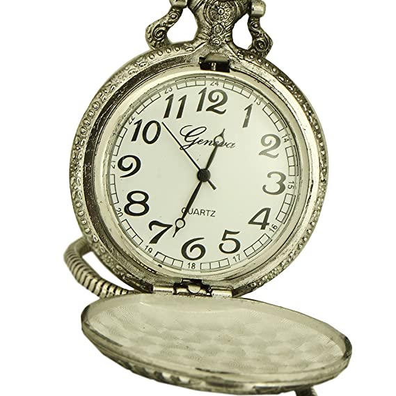 Jewelry & Watches Silver Tone Pocket Watch New Battery