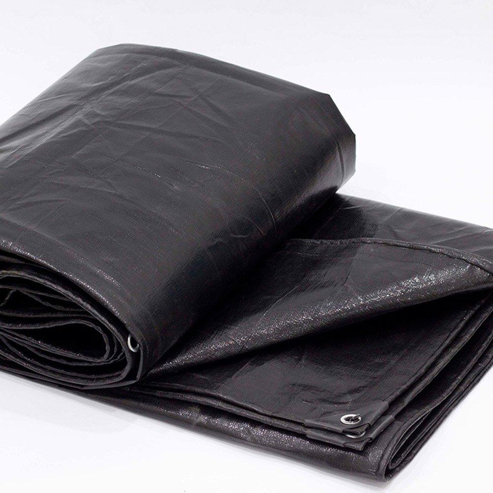 Noir 3x6M AJZXHE BÂche Noire épaisse, bÂche résistante à l'usure de bÂche de Voiture d'isolation de Prougeection Solaire d'anti-vieillisseHommest de Haute température Anti-vieillisseHommest -Tente
