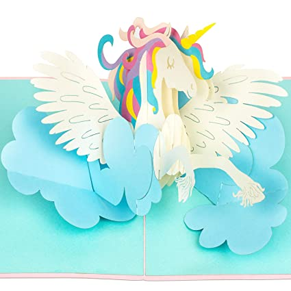 PaperCrush - Tarjeta pop-up con diseño de unicornio: Amazon ...