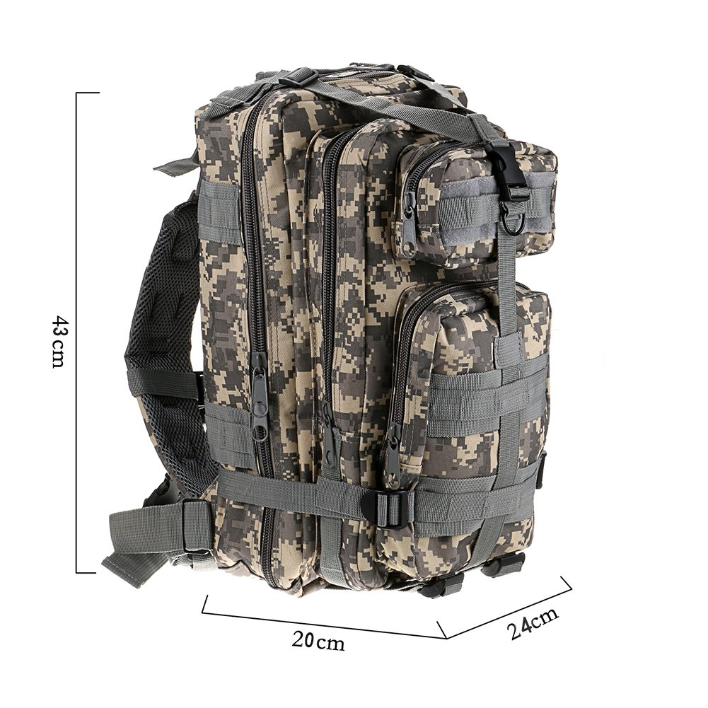 ... Backpack Molle military bag Camping Hiking Trekking Camouflage Bagpack Men Women Outdoor Travel mochilas masculine (ACU Digital) : Sports & Outdoors