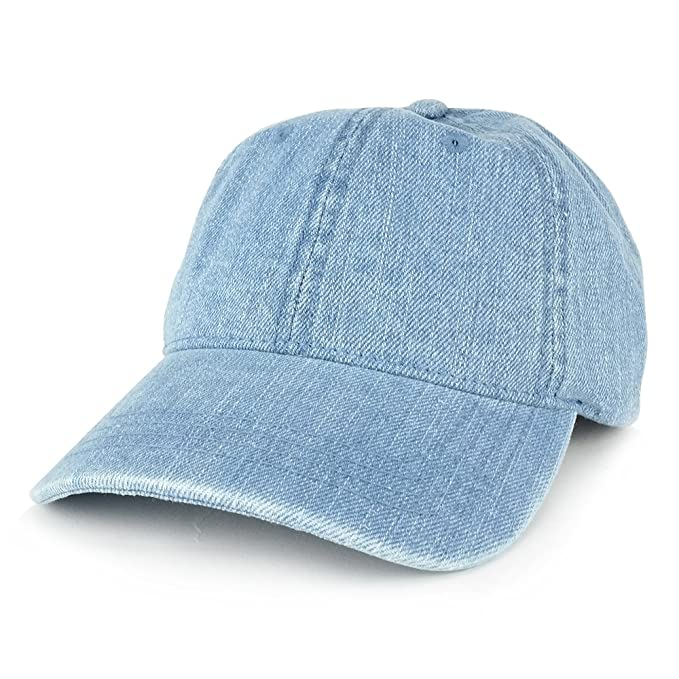 c040b557667 MEG Low Profile Unstructured Denim Garment Washed Baseball Cap (One Size