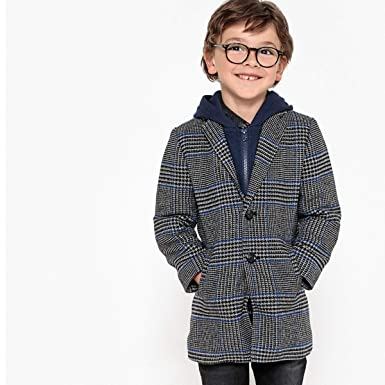 9de431e2f Image Unavailable. Image not available for. Color: La Redoute Collections  Big Boys Hooded Checked Coat ...