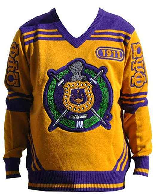 Big Boy Headgear Omega Psi Phi Fraternity Mens Wool V Neck Sweater