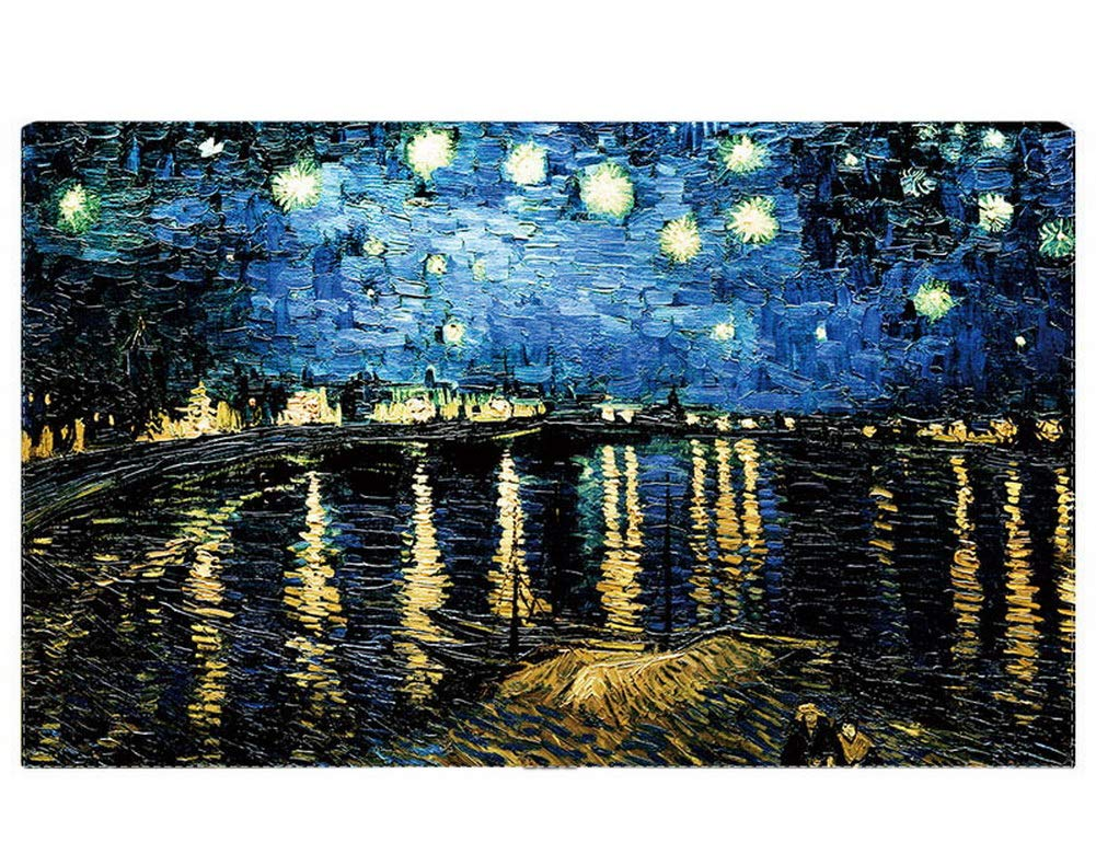 Gentle Meow Home Creative 50-Inch TV Cloth Decorative Dustproof Cover, Night Stars