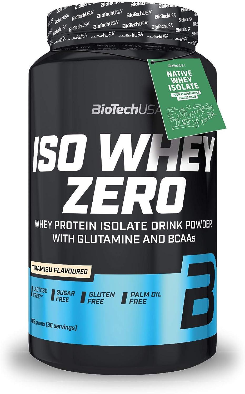 BioTechUSA Iso Whey ZERO, Lactose, Gluten, Sugar FREE, Whey Protein Isolate, 908 g, Tiramisu
