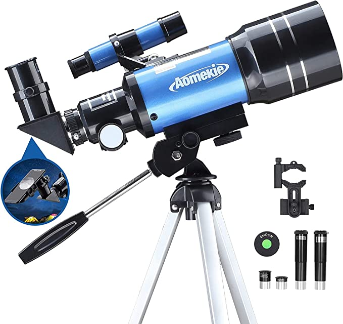Aomekie Astronomisches Teleskop Kinder Einsteiger 70mm Kamera