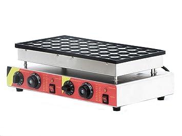 Comercial 50pcs automático Poffertjes parrilla holandés Mini tortitas Waffle Panificadora 110 V o 220 V 110V