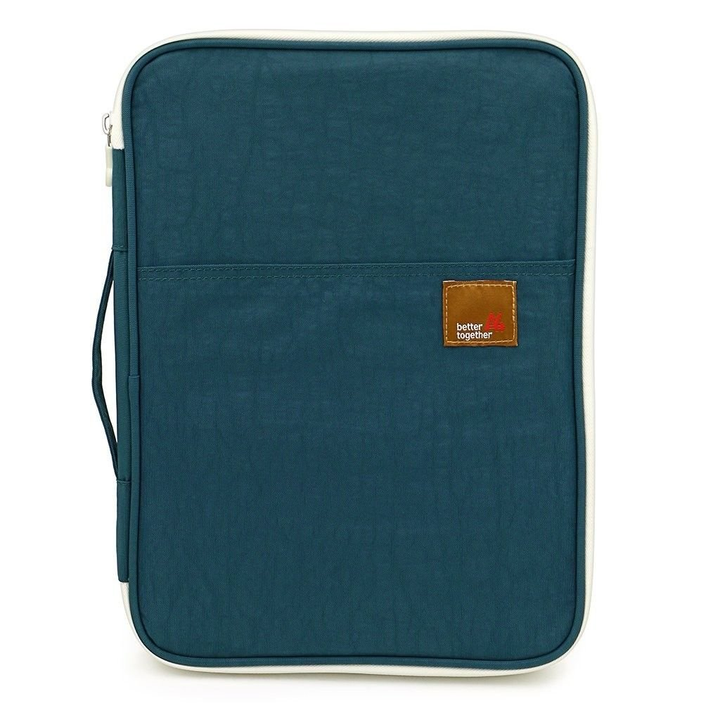 SCTD A4 Document Bags Portfolio Padfolio Organizer-Multi-Functional Waterproof Travel File Folder Case Zippered Note Pouch for Pads, Planners,Files, Notebooks, Pens, Documents (Teal) by SCTD (Image #1)