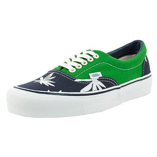 61659092c4 Vans OG ERA LX Palm Leaf Skateboarding Shoes Navy Green VN-0OZD7NN   Amazon.ca  Shoes   Handbags