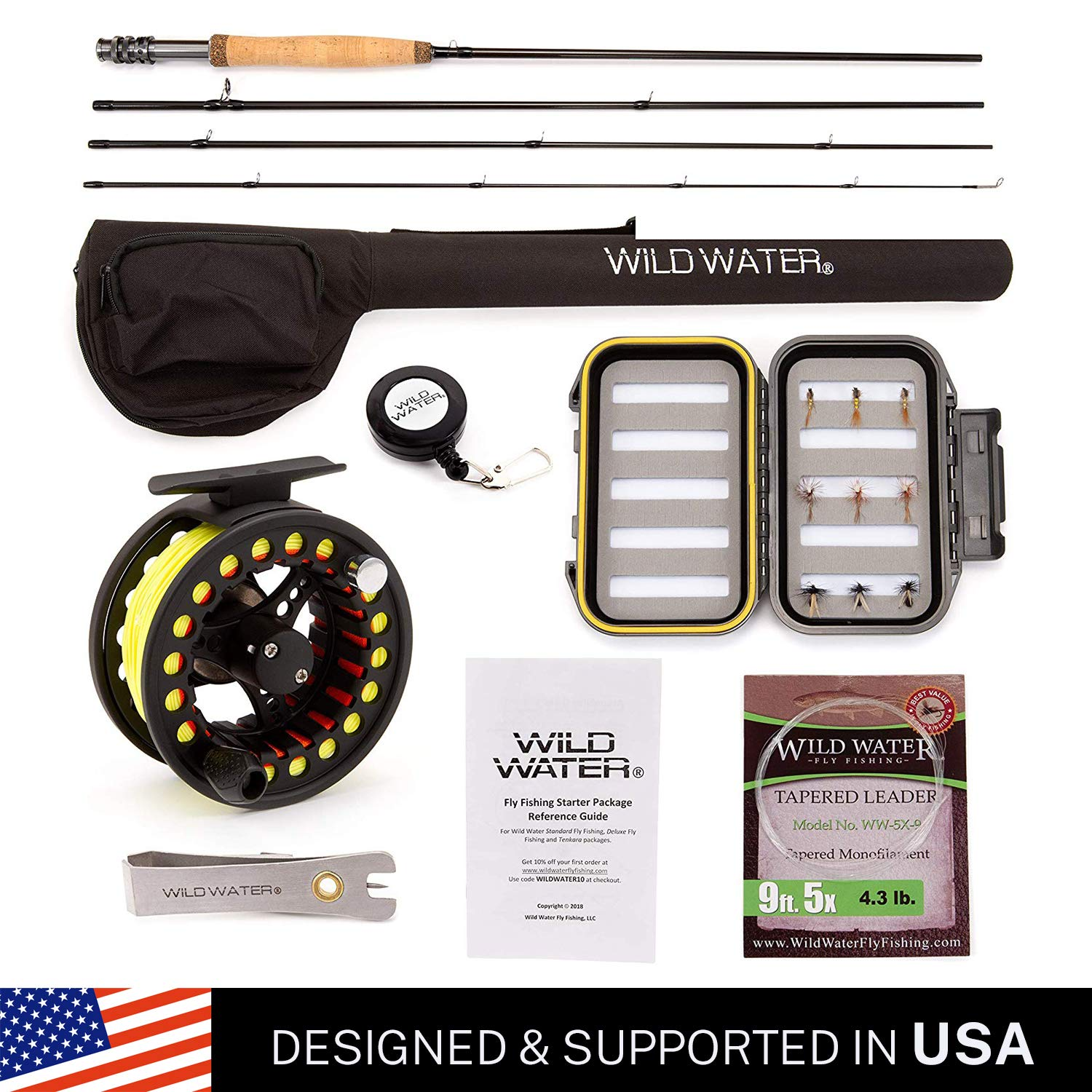 Wild Water Fly Fishing Complete 5/6 Starter Package by Wild Water