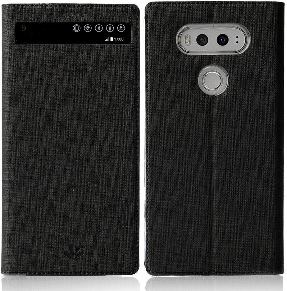Meiya - Funda de Piel sintética con Tapa para LG V20, diseño de ...