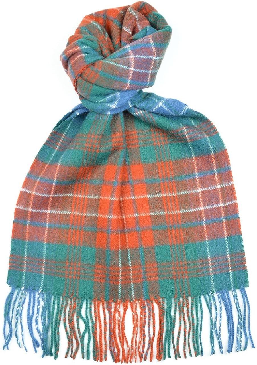 Scottish 100 /% Authentic Wool MacDonald Ancient Tartan Clan Scarf New !!