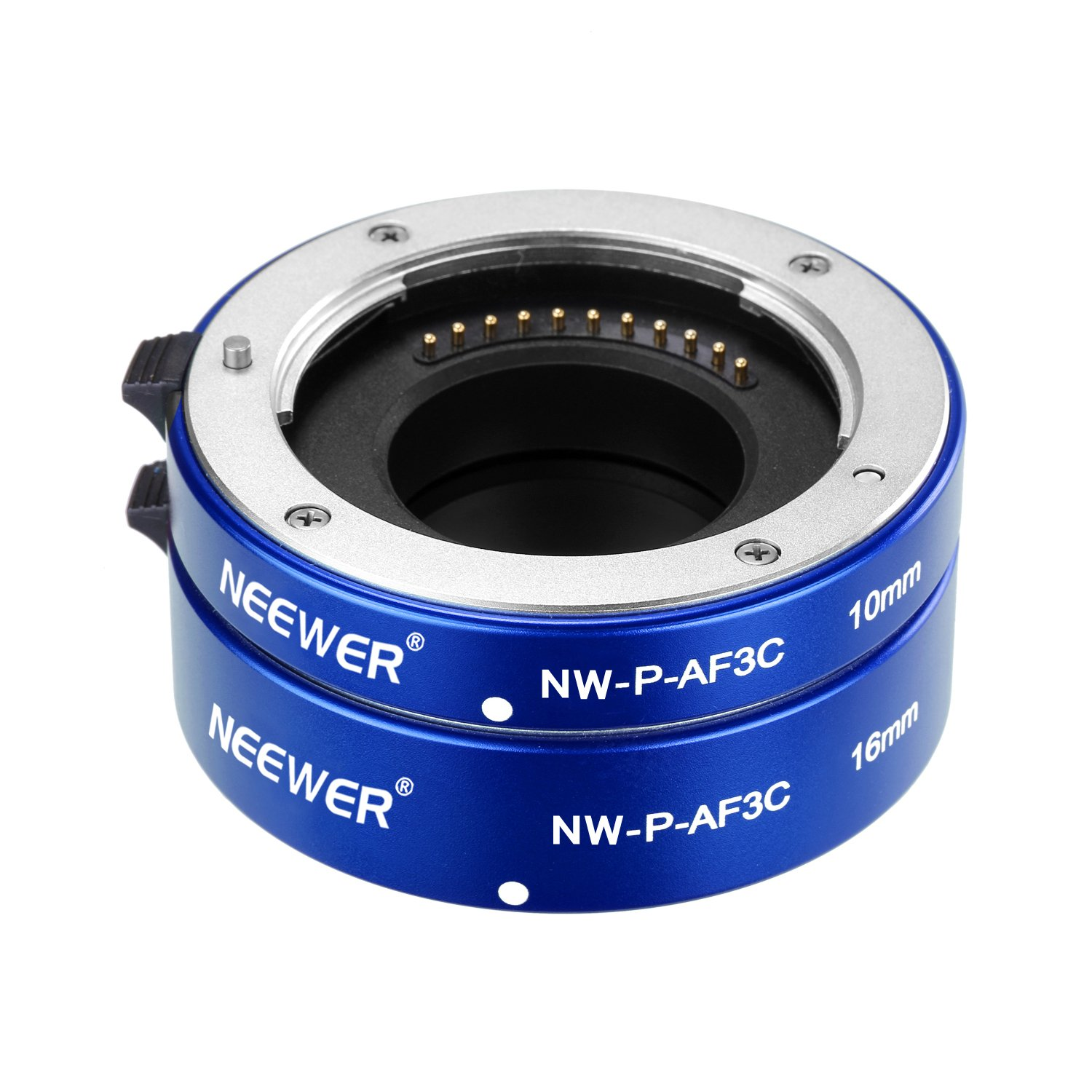 Neewer® All-Metal Auto Focus Macro Close-up Extension Tube Set 10mm,16mm for Micro Four Thirds(Micro-4/3) Mirrorless Cameras, fits Panasonic G1 G2 G3 G10 GH1 GH2 Olympus E-P1 E-P2 E-P3 E-P5 E-PL1 B01J5OR0TK