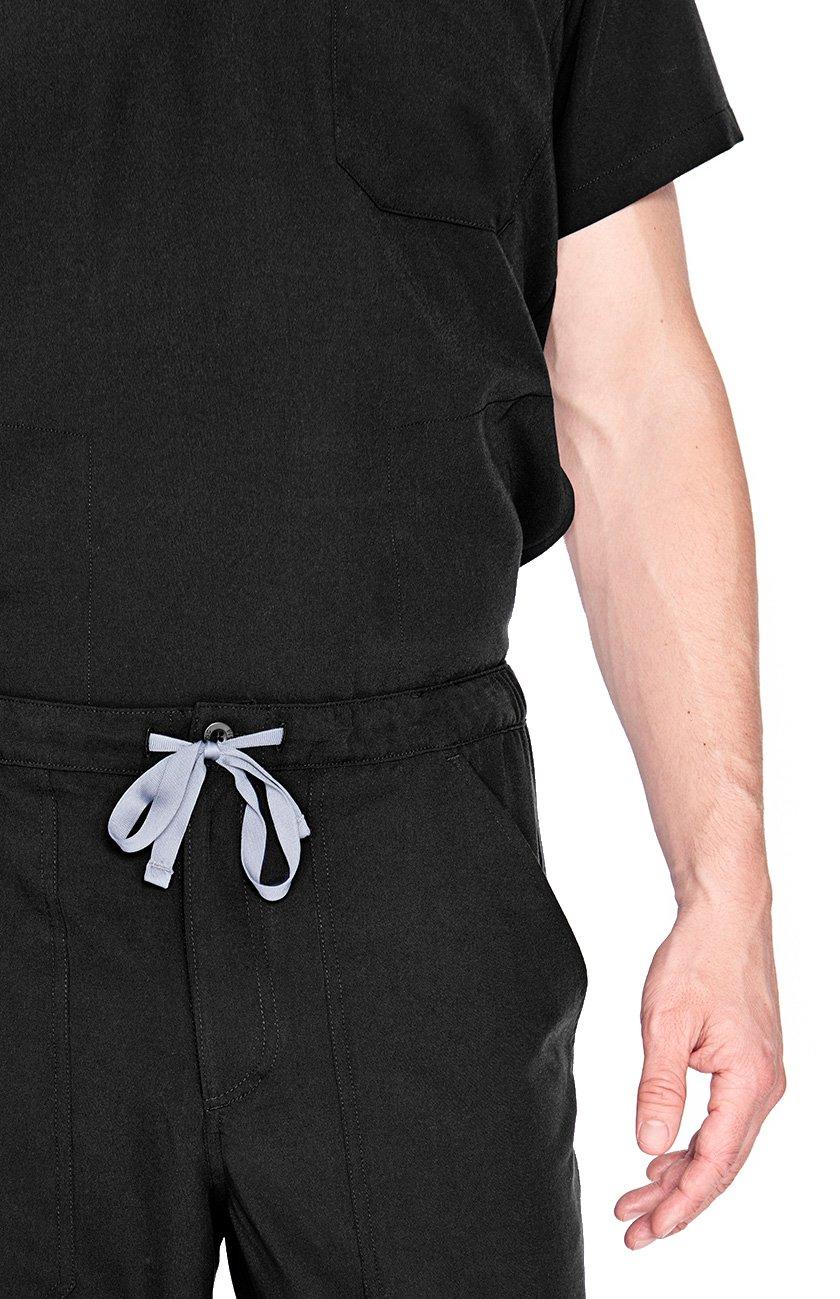 FIGS Medical Scrubs Men's Chisec Three Pocket Top (Black, XS) by FIGS (Image #4)