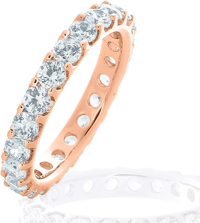 Amazon Com Eternity Wedding Bands 14k Gold 2 0 Ct Eternity