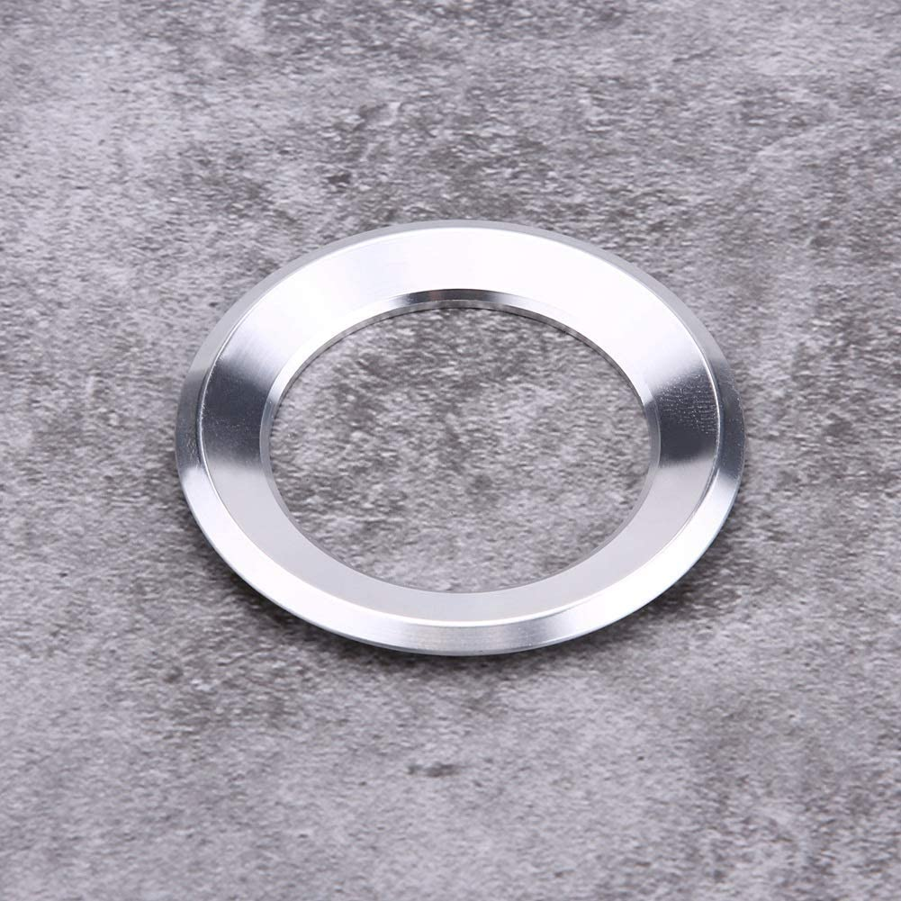 Silver Car Steering Wheel Ring Cover Trim for 6 7 B7 Car Steering Wheel Logo Decoration Outer Ring