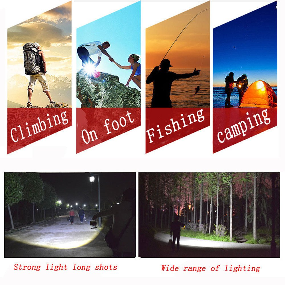 30W USB COB LED Portable Rechargeable Flood Light Spot Work Camping Outdoor Lamp by Dressffe by Dressffe (Image #6)