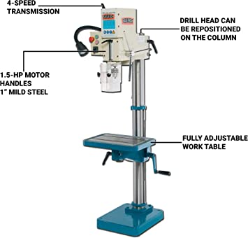 Baileigh Industrial DP-1000G Stationary Drill Presses product image 2