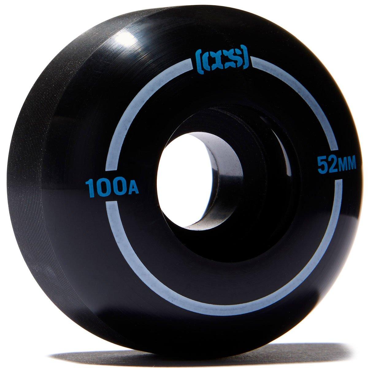 CCS スケートボードホイール 4個セット 100a ストリート/パーク 52mm 54mm 56mm 54mm ブラック B078YDNHTJ