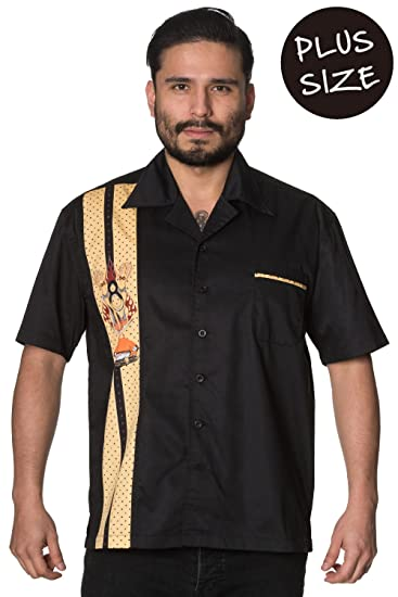 Banned Much Ado Plus Size Mens Rockabilly Vintage Shirt Amazon Co