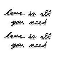 Umbra Adesivo murale romantico Love is all you need, colore: Nero