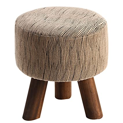 Superieur Cloth Block Sofa Stool Folding Stool Solid Wood Shoe Bench Yoga Stool  Living Room Footstool Small