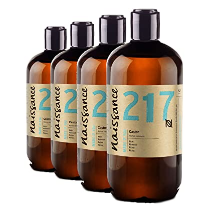 Naissance Aceite de Ricino 4 x 500ml - Puro, natural, vegano, sin hexano