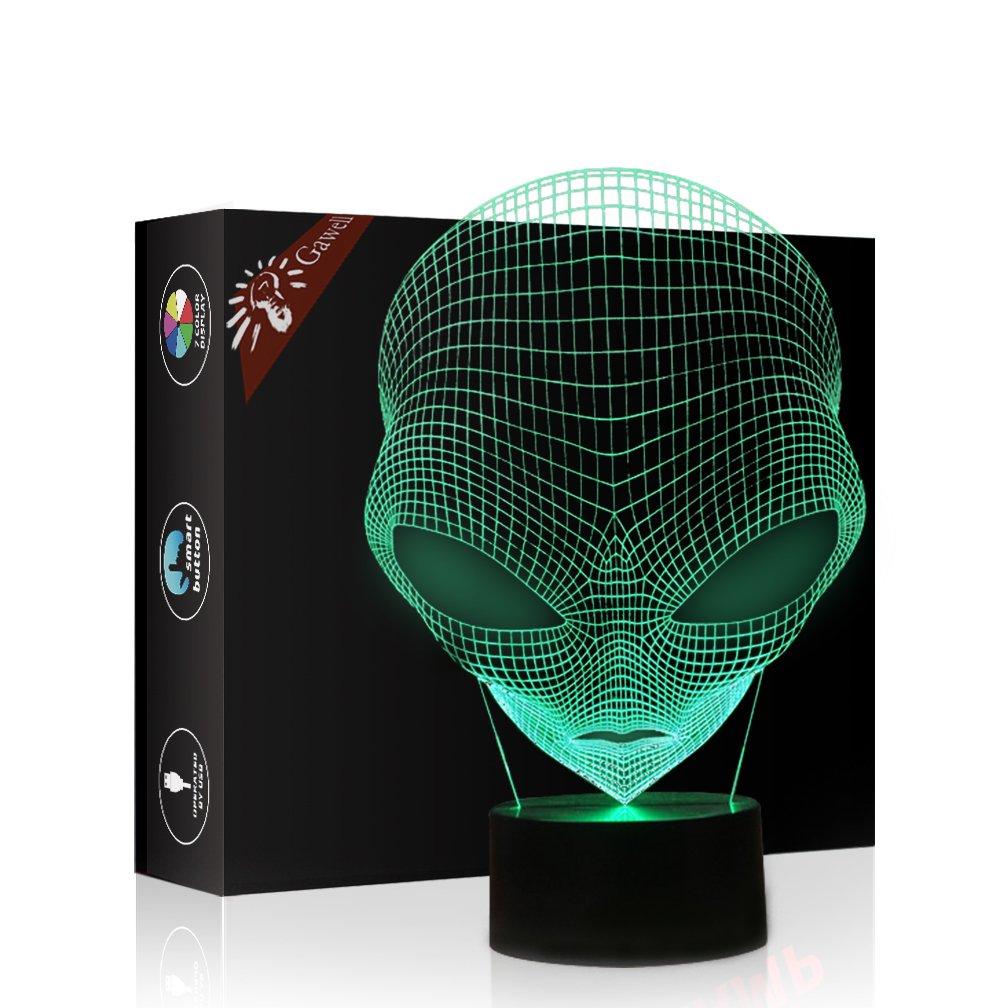 3d視覚効果IllusionランプGawellバスケットボールナイトライト7色GlowsスマートタッチスイッチUSBケーブルクリエイティブギフトおもちゃデコレーション GW037-40-huoxingren B01N3TJ70T 11915 3d Martian Lamp 3d Martian Lamp