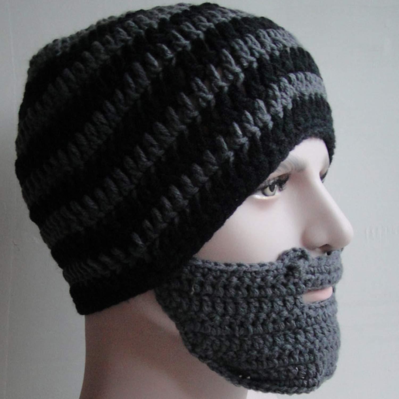 Warm Winter Women Men Fashion Punk Knit Crochet Beard Hat Beanie