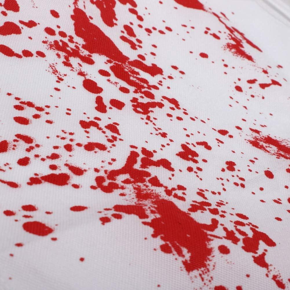 Bornbayb Polyester Nouveaut/é Imprim/é Tablier Costumes Effrayant Tablier de cuisine BBQ pour Bloody Murder Halloween