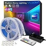 65.6ft Led Strip Lights, ViLSOM Led Lights with 44Keys Remote, 600Leds Bright RGB Light Strips, DIY Options Tape Lights…