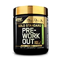 Optimum Nutrition Gold Standard Pre Workout Energy Powder Drink with Creatine Monohydrate, Beta Alanine, Caffeine & Vitamin B Complex by ON - Apple, 30 Servings, 330g