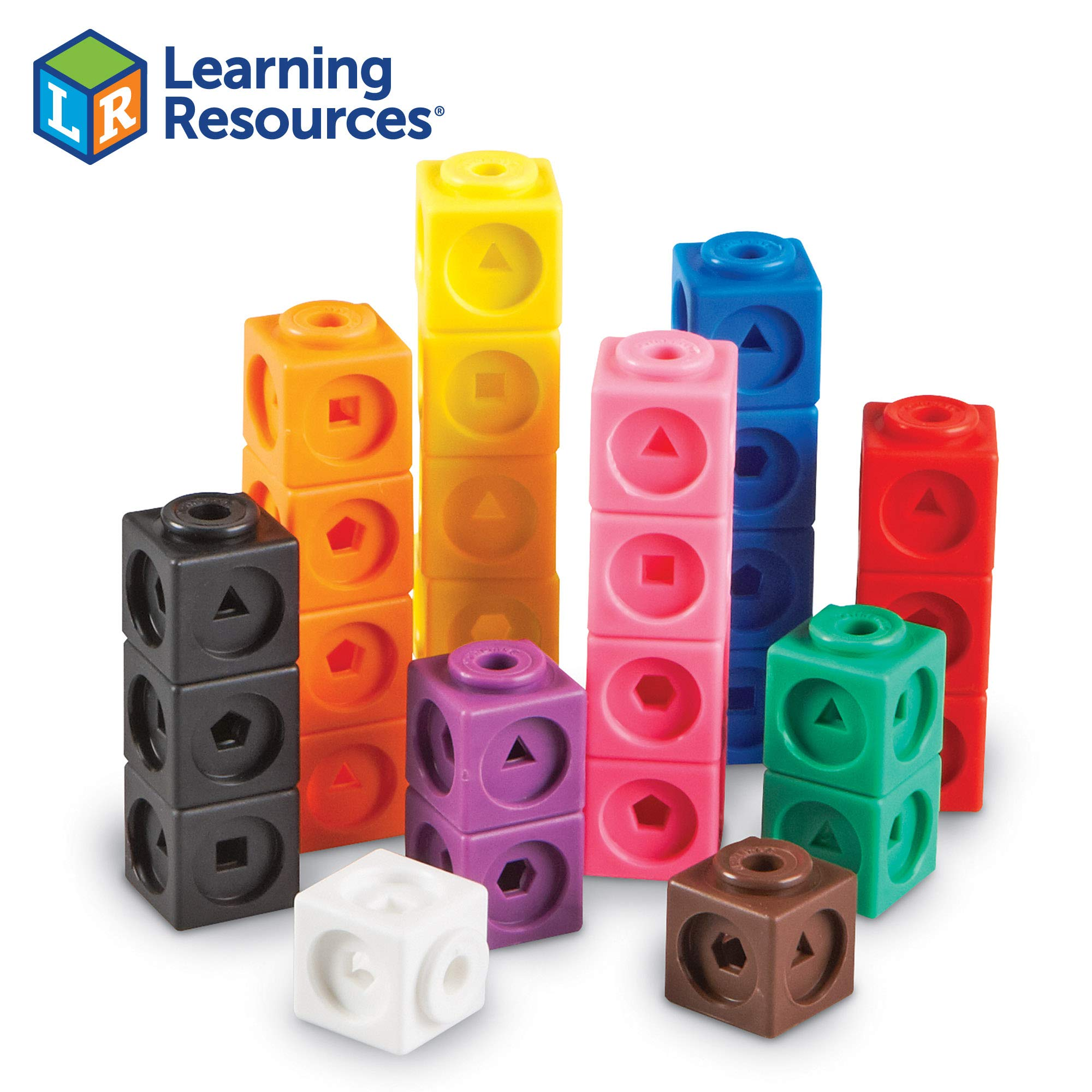 Learning Resources Mathlink Cubes, Educational Counting Toy, Early Math Skills, Set of 100 Cubes by Learning Resources